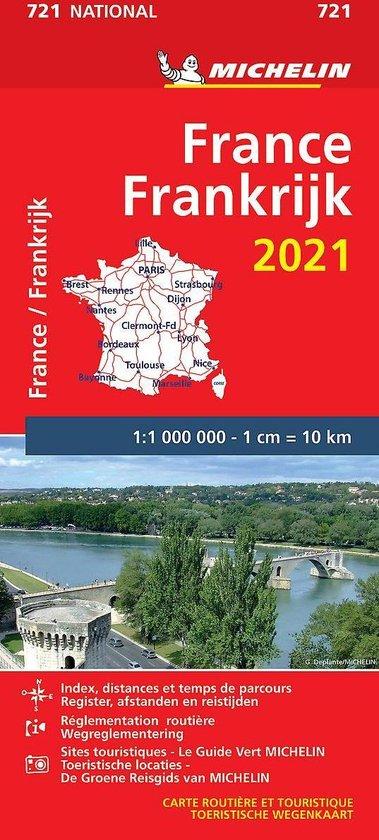 Boek cover Nationale kaarten Michelin  -   Michelin 721 Frankrijk 2021 van  (Onbekend)