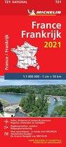 Nationale kaarten Michelin  -   Michelin 721 Frankrijk 2021