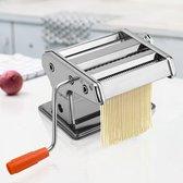 Decopatent® Pastamaker - Pastamachine van RVS - 15 Cm Pasta Rollerbreedte - Pastamachine - Pasta machine Incl. handige Tafelgreep