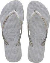 Havaianas Slim Glitter II Meisjes Slippers - Ice Grey - Maat 33/34