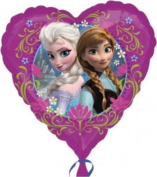 Folieballon - Frozen - Hart - 43cm - Zonder vulling