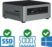 Intel NUC Compleet PC | Pentium J5005 - Quad Core | 8 GB DDR4 | 240 GB SSD | 2x HDMI | Windows 10 Pro