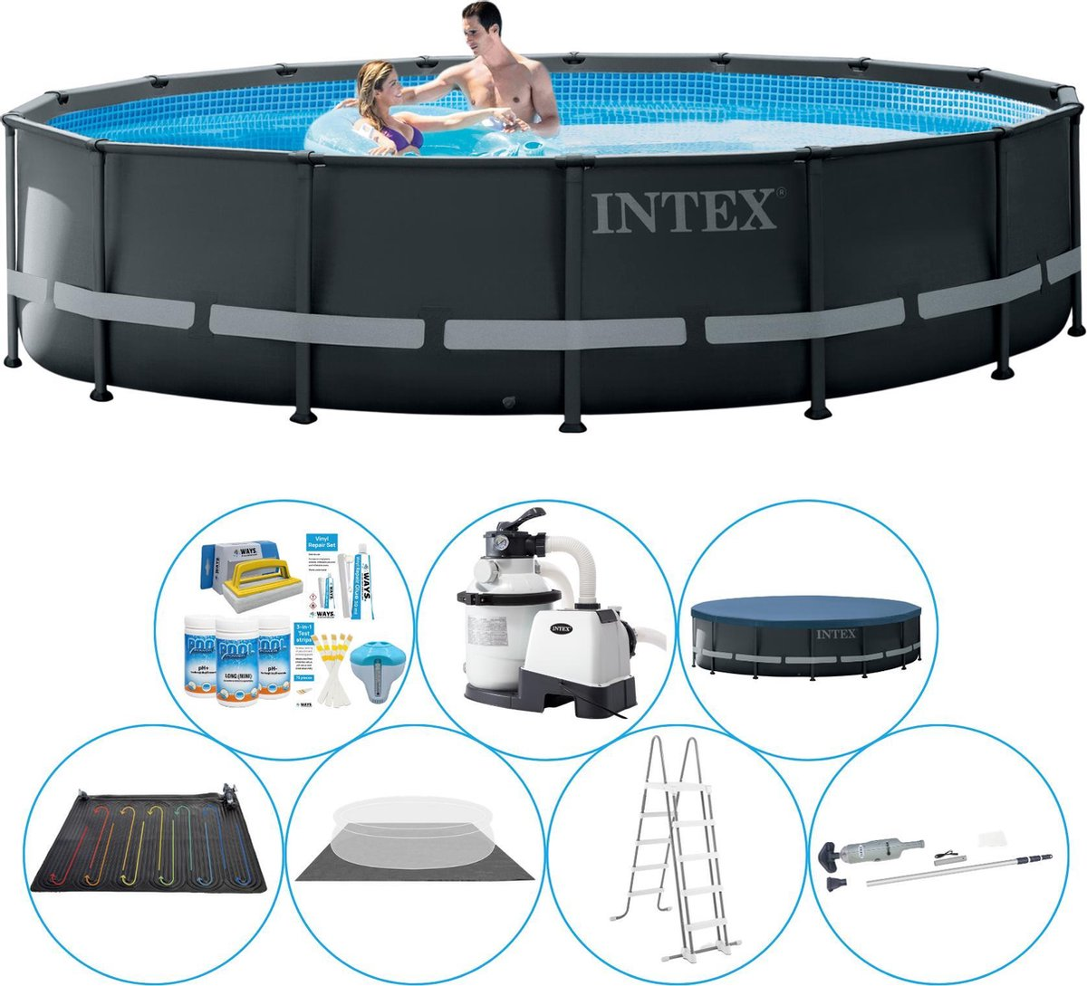Intex Ultra XTR Frame Rond Zwembad - 488 x 122 cm - Deluxe