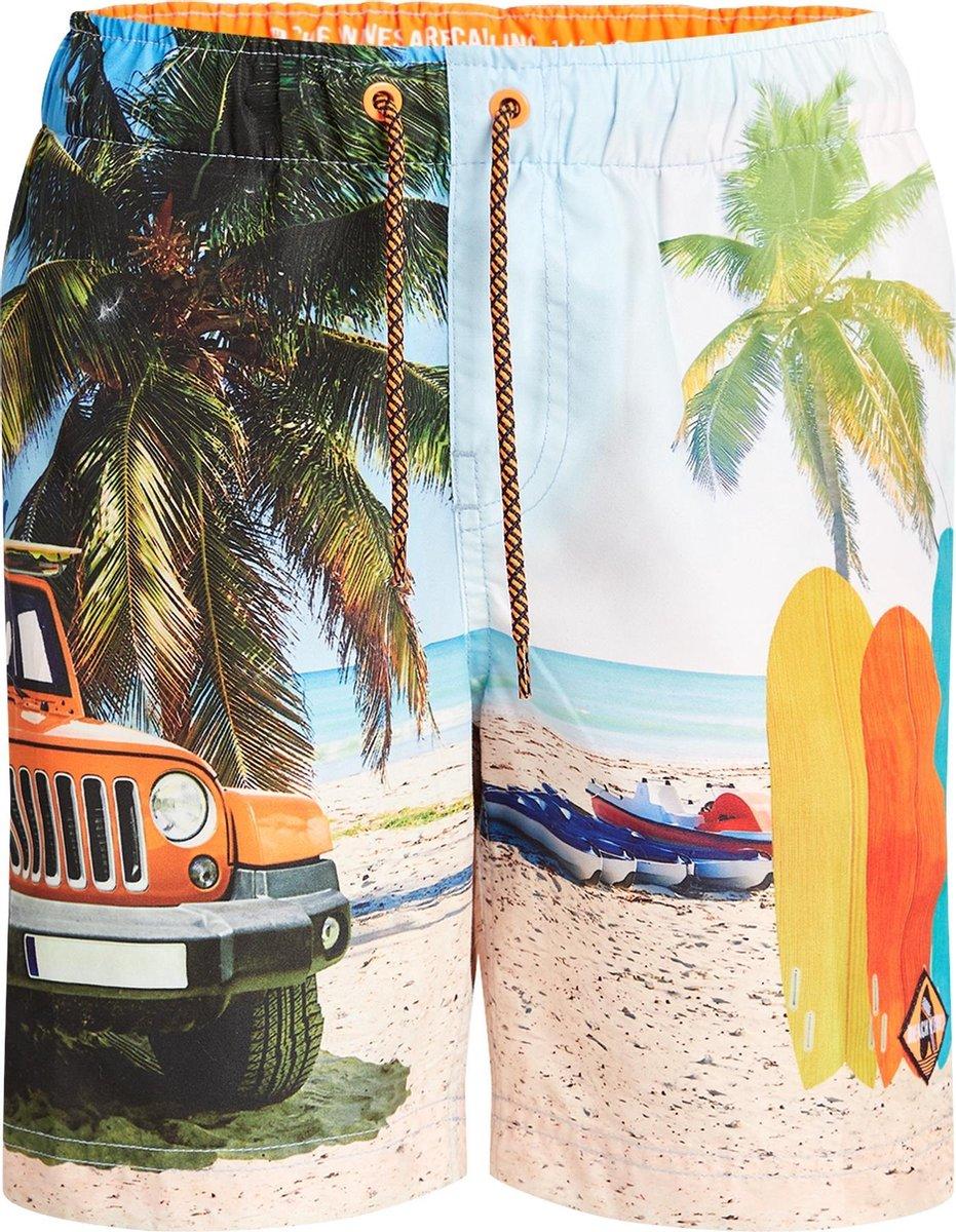 WE Fashion Jongens zwembroek met stranddessin