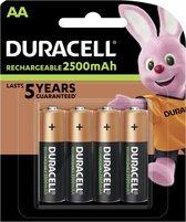 Duracell Rechargeable AA 2500mAh batterijen - 4 stuks