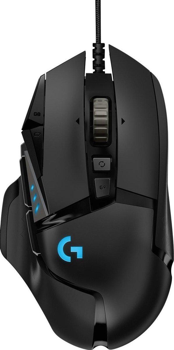 Logitech G502 HERO - Gaming Muis met 25K DPI - Zwart