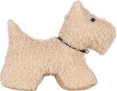 Clayre & Eef Deurstopper Hond 32*12*28 cm Bruin Polyester Deurklem Deurwig