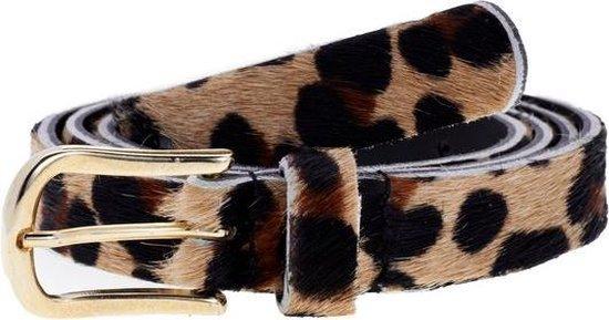 Elvy Fashion – Skin Belt Women 20401 – Black Leopard – Size 105