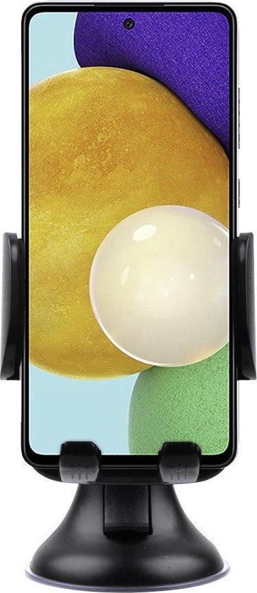 Shop4 – Samsung Galaxy A52 Autohouder Instelbare Raamhouder Zwart