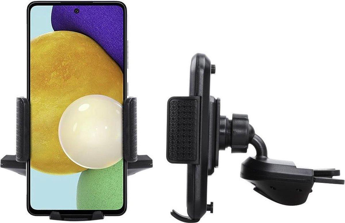 Shop4 – Samsung Galaxy A52 Autohouder Verstelbare CD Houder met Klem Zwart