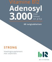 B12 Vitamins - B12 Adenosyl 3.000 met Folaat - 60 tabletten - Vitamine B12 adenosylcobalamine - B12 Adenosyl - vegan - voedingssupplement