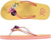 Xq Footwear Teenslippers Glitter Meisjes Geel/roze Maat 33-34