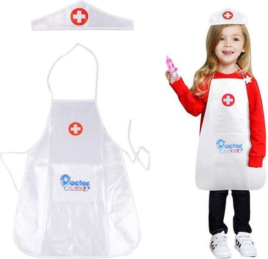 Afbeelding van het spel 1 set kinderkleding rollenspel kostuum dokter overall verpleegster uniform- educatief speelgoed voor kinderen cadeau (wit) - [As Seen on Image]
