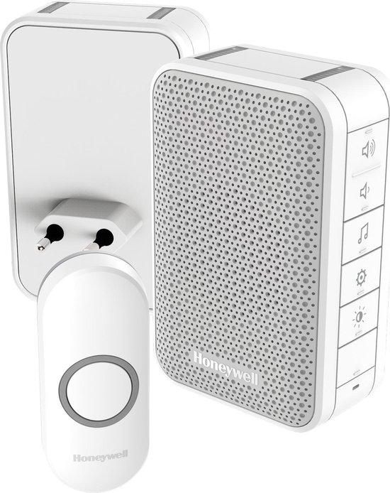 Honeywell draadloze draagbare en plug-in deurbel - Met volumeregeling en drukknop - Wit
