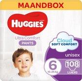 Huggies Ultra Comfort Luierbroekjes - maat 6 (15 tot 25 kg) - 108 stuks - Maandbox