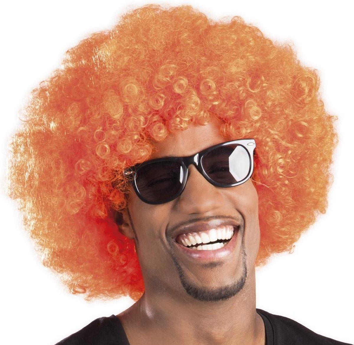 Oranje Disco Pruik - Koningsdag - EK voetbal - Formule 1