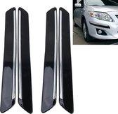 4 STKS Universele Auto Auto Plastic Wrap Rubber Voor Achter Body Bumper Guard Protector Strip Sticker (Zwart)