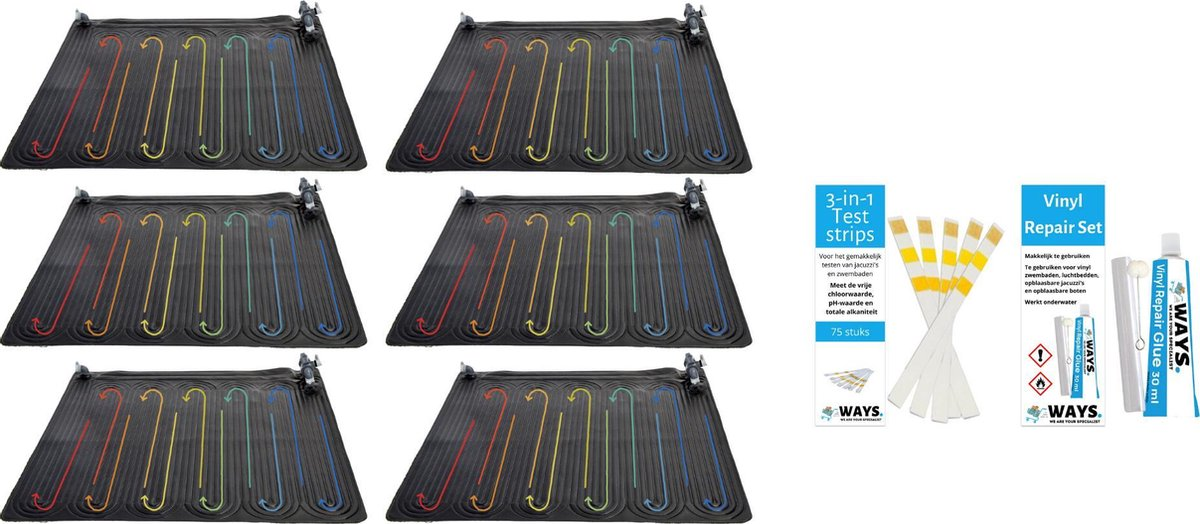 Intex - 6 stuks - Zwembad verwarming - Geschikt voor filterpomp 28636GS & WAYS Reparatieset en Teststrips