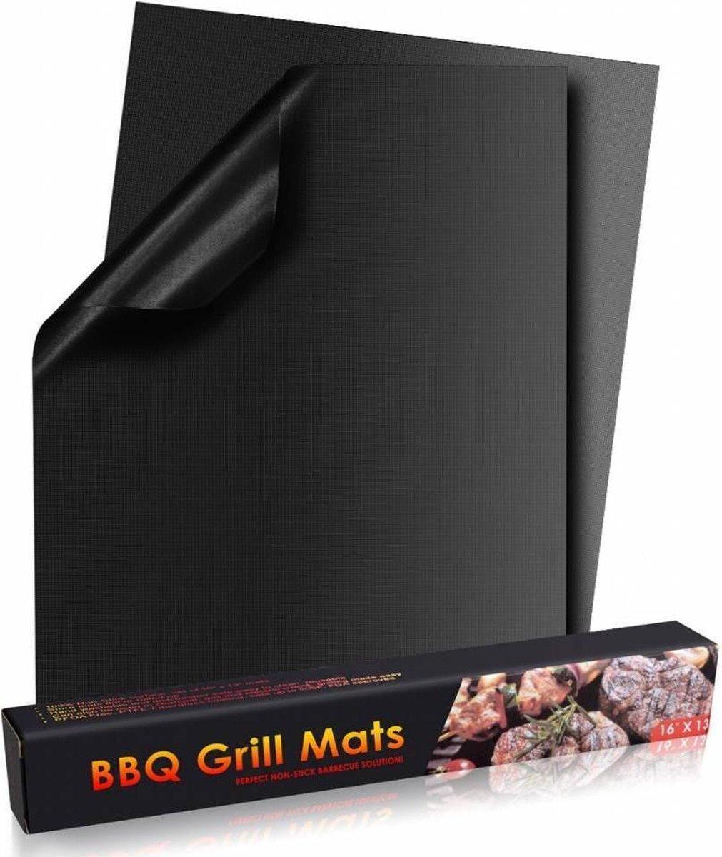 Grill matten - Teflon - Zwart - 4 Stuks