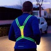 Sports LED Reflecterend Hardloopvest - Hardlopen - Geel reflectief - One Size - Lampjes