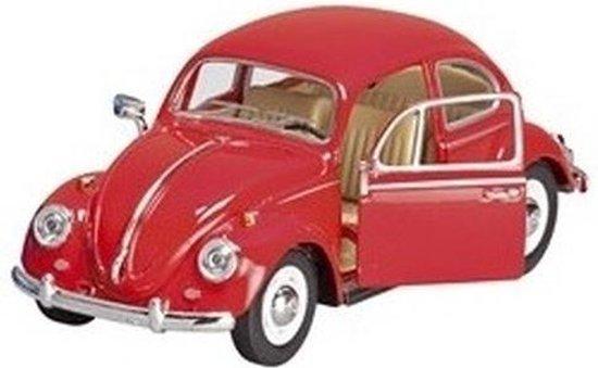 | Modelauto Volkswagen Kever rood 17 cm speelgoed