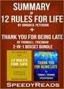 Omslag Summary of 12 Rules for Life: An Antidote to Chaos by Jordan B. Peterson + Summary of Thank You for Being Late by Thomas L. Friedman 2-in-1 Boxset Bundle