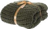 Plaid Knitted groen 125x150cm