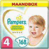 Pampers Premium Protection Luiers - Maat 4 (9-14 kg) - 168 Stuks - Maandbox