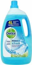 Dettol Power & Fresh - Allesreiniger - Katoenfris - 4 Liter