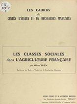 Les classes sociales dans l'agriculture française