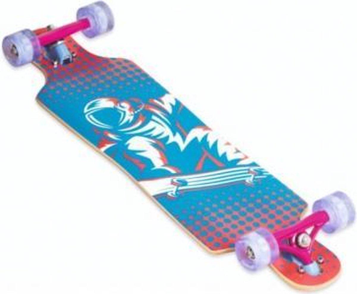 Muuwmi Longboard Compact 83 X 22 Cm Blauw/roze