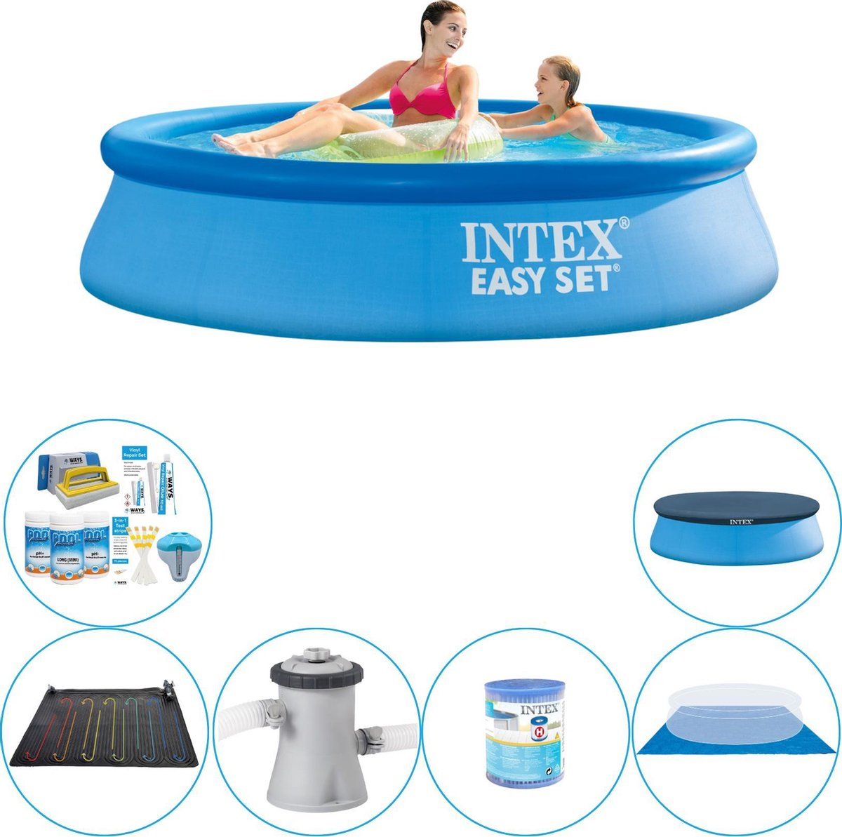 Intex Easy Set Rond 244x61 cm - Zwembad Plus Accessoires