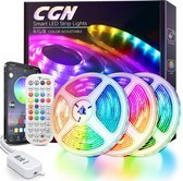 CGN - 15M LED Strips - Bluetooth - Kit 40 Key IR Afstandsbediening - APP - RGB