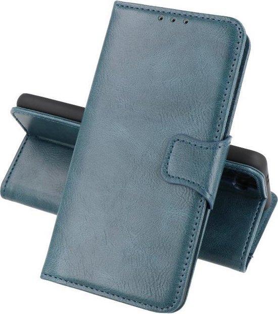 Zakelijke Book Case Telefoonhoesje - Portemonnee Hoesje - Pasjeshouder Wallet Case - Geschikt voor Oppo Reno 5 Pro Plus 5G - Oppo Find X3 Neo - Blauw
