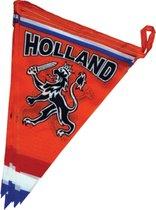 Luxe polyester vlaggenlijn 6 meter oranje Holland met leeuw en rood-wit-blauwe vlag   EK Voetbal 2020 2021   Nederlands elftal versiering   Nederland supporter vlaggetjes
