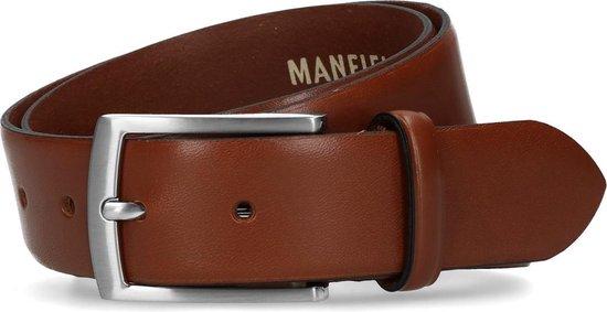 Manfield – Unisex – Leren riem cognac – Maat 85