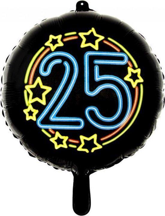 Wefiesta Folieballon 25 Neon 45 Cm Zwart
