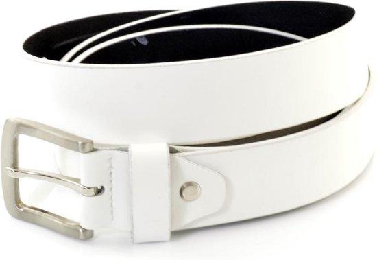 XXL Belts heren- & damesriem Jeans 673 – Wit – 155 cm