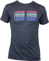 t-shirt zwart Legend regenboog  XXL