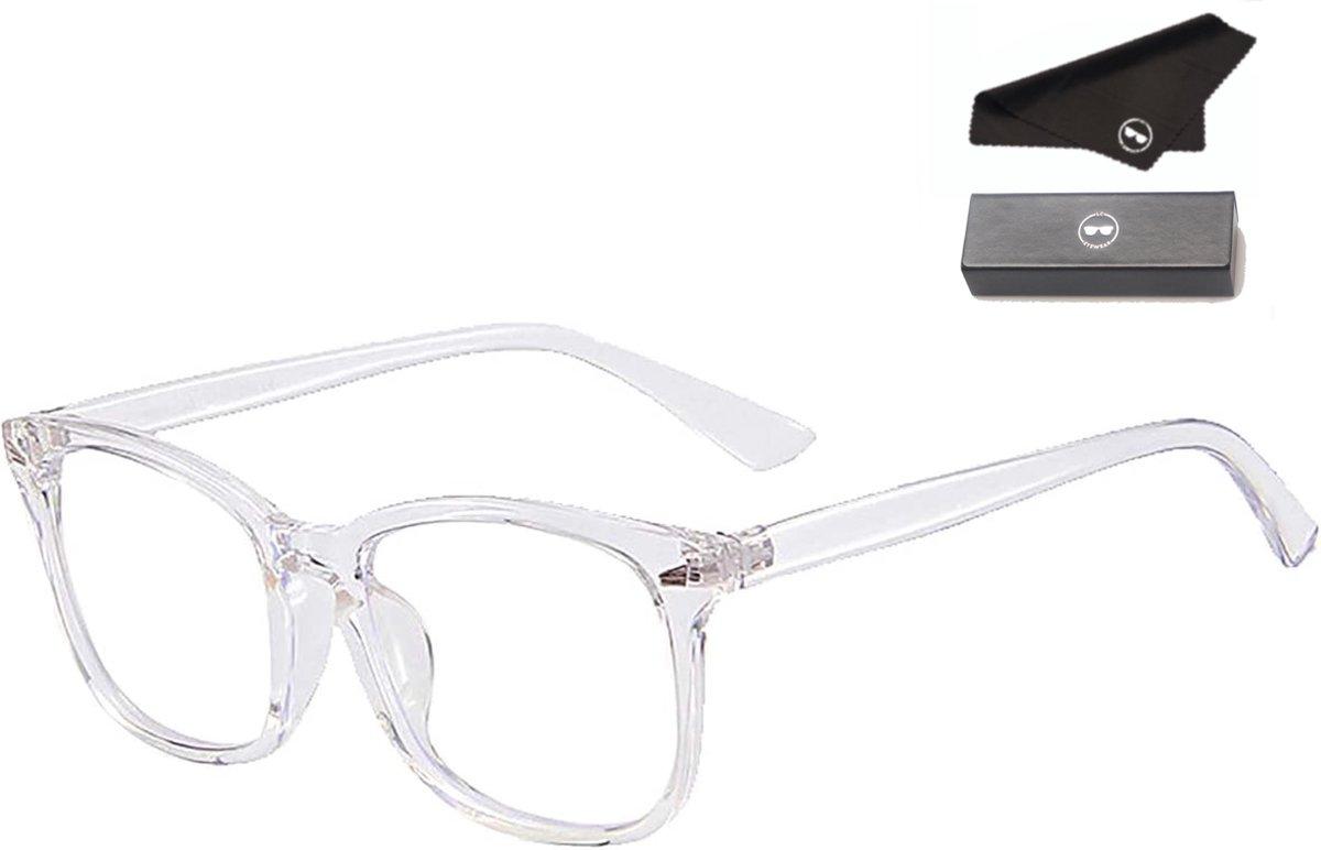 LC Eyewear Computerbril met Blauw Licht Filter - Design - Blue Light Glasses - Unisex - Transparant
