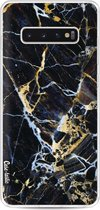 Samsung Galaxy S10 Plus hoesje Black Gold Marble Casetastic Smartphone Hoesje softcover case