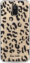 Samsung Galaxy A6 (2018) hoesje Leopard Print Black Casetastic Smartphone Hoesje softcover case