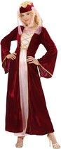 Middeleeuwen & Renaissance Kostuum | Middeleeuwse Koningin Rose-Marie | Vrouw | Large | Carnaval kostuum | Verkleedkleding