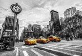 Fotobehang New York City Cabs | XXXL - 416cm x 254cm | 130g/m2 Vlies