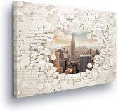 New York City Skyline Empire State Canvas Print 100cm x 75cm