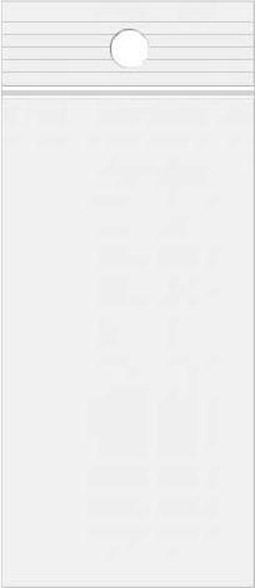Gripzakken met Ophanggat 15x30,5cm Kristalhelder PP 50 Micron (100 stuks)