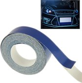 Auto decoratie reflecterende tape, Afmetingen: 1 cm x 18 m (blauw)