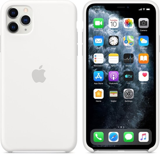 Apple Silicone Backcover iPhone 11 Pro Max hoesje - White
