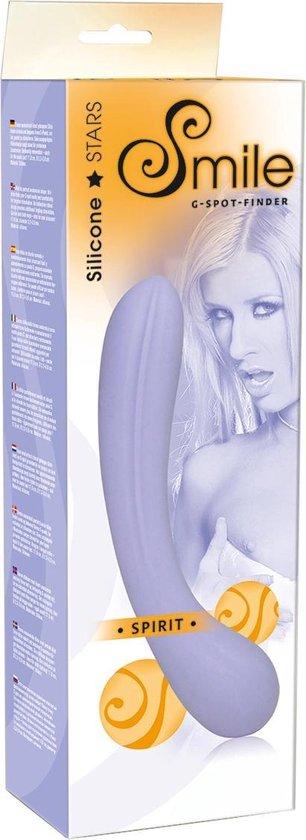 Sweet Smile – 'Spirit' G-spot Dildo met Verticale Ribbels voor Extatische Momenten – Paars