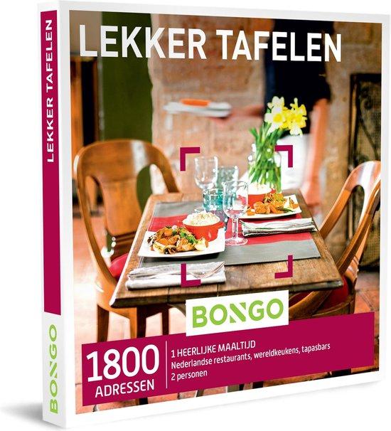 Bongo Bon Nederland - Lekker Tafelen Cadeaubon - Cadeaukaart cadeau voor man of vrouw | 1800 restaurants met een wereldkeuken